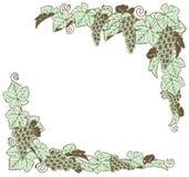 Diseño de la frontera de la vid de uva Foto de archivo libre de regalías