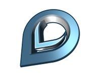 diseño de la insignia 3d Fotografía de archivo libre de regalías