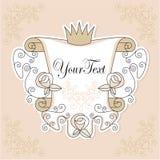 Diseño de la invitación con las rosas Fotografía de archivo libre de regalías
