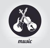 Diseño de la música Fotos de archivo libres de regalías