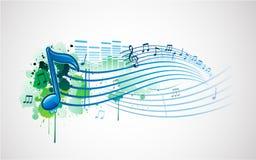 Diseño de la nota de la música Fotos de archivo