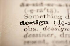 Diseño de la palabra Foto de archivo