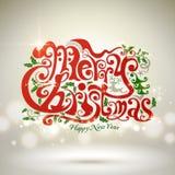 Diseño de la palabra de la Navidad Imágenes de archivo libres de regalías