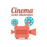 Diseño de la película del cine Foto de archivo libre de regalías