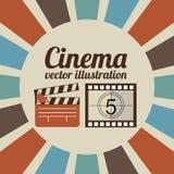 Diseño de la película del cine Fotografía de archivo