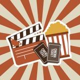 Diseño de la película del cine Imagen de archivo