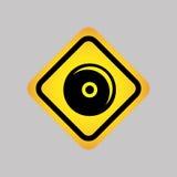 diseño de la silueta del icono de DJ Fotos de archivo libres de regalías