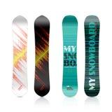 Diseño de la snowboard Imagen de archivo