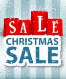 Diseño de la venta de la Navidad Fotografía de archivo libre de regalías
