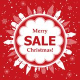 Diseño de la venta de la Navidad Imagenes de archivo