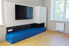 Diseño de la zona de la TV Fotos de archivo