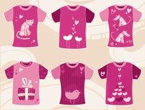 Diseño de las camisetas del día del `s de la tarjeta del día de San Valentín Imagen de archivo libre de regalías