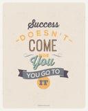 Diseño de las citas de la motivación Fotos de archivo