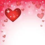 Diseño de las tarjetas del día de San Valentín con muchos corazones Foto de archivo