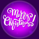 Diseño de letras de la Feliz Navidad, texto de la escritura Ilustración EPS 10 del vector Fotografía de archivo libre de regalías