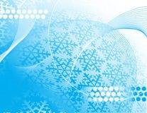 Diseño de los copos de nieve de la Navidad Imagenes de archivo