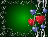 Diseño de los corazones Imagen de archivo libre de regalías