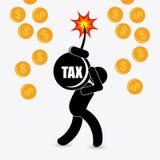 Diseño de los impuestos Imagen de archivo