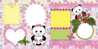 Diseño de los niños de la página del libro de recuerdos Fotos de archivo libres de regalías