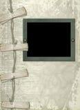 Diseño de los papeles de Grunge con el marco Imagen de archivo libre de regalías