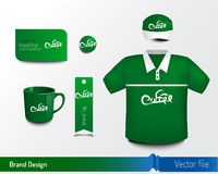 Diseño de marca con el objeto para añadir una identidad Imagen de archivo