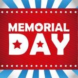 Diseño de Memorial Day Foto de archivo