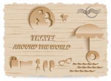 Diseño de negocio del World Travel Infographic Fotografía de archivo libre de regalías