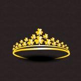 Diseño de oro elegante de la corona Fotografía de archivo libre de regalías
