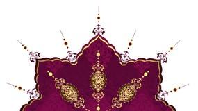 Diseño de oro elegante del turco del otomano Foto de archivo libre de regalías