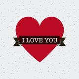 Diseño de tarjeta del amor Fotos de archivo
