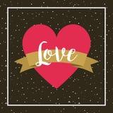 Diseño de tarjeta del amor Imagen de archivo