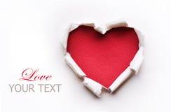 Diseño de tarjeta del corazón de la tarjeta del día de San Valentín Foto de archivo libre de regalías