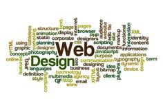 Diseño de Web - nube de la palabra Imagenes de archivo