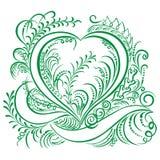 Diseño decorativo de la ecología del corazón que remolina Foto de archivo libre de regalías