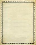 Diseño decorativo de la frontera de la vendimia Fotografía de archivo libre de regalías