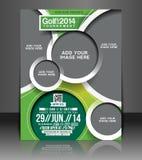 Diseño del aviador del torneo del golf Imagen de archivo libre de regalías
