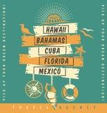 Diseño del catálogo de la promoción de la agencia de viajes Fotografía de archivo libre de regalías