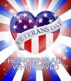 Diseño del corazón del día de veteranos Imagen de archivo