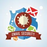 Diseño del correo electrónico Icono del sobre ejemplo, vector Fotos de archivo
