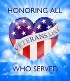 Diseño del día de veteranos Foto de archivo