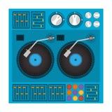 Diseño del disc jockey Imágenes de archivo libres de regalías