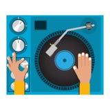 Diseño del disc jockey Imagen de archivo libre de regalías
