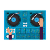 Diseño del disc jockey Imagenes de archivo