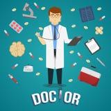 Diseño del doctor And Medical Objects Foto de archivo libre de regalías