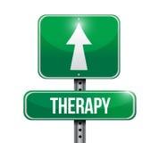 Diseño del ejemplo de la señal de tráfico de la terapia Foto de archivo libre de regalías