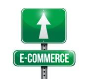 diseño del ejemplo de la señal de tráfico del comercio electrónico Fotografía de archivo