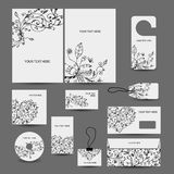 Diseño del estilo del negocio corporativo: carpeta, etiquetas, Foto de archivo libre de regalías