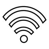Diseño del icono de Wifi, de la radio o de Internet Fotografía de archivo