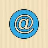 diseño del icono del arroba Imagen de archivo libre de regalías