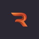Diseño del logotipo de la letra R Imagen de archivo libre de regalías